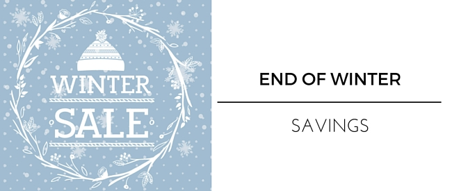 Save in the End of Winter Sales